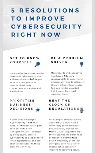 Infographic: 5 Resolutions to Improve Cybersecurity Right Now